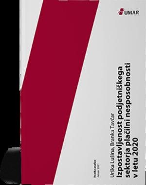 Naslovnica publikacije Izpostavljenost podjetniškega sektorja plačilni nesposobnosti v letu 2020