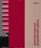 Naslovnica publikacije Jesenska napoved gospodarskih gibanj